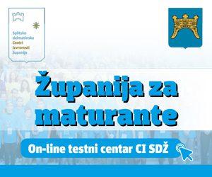 Županija za maturante! Online testni centar CI SDŽ